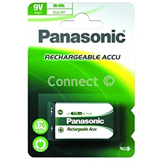 Panasonic P22P panasonic pro+ nimh 9V re-chargeable battery (Card 1) Accupower proplusP22P Rechargeable Battery (Need To Charge) MN1604 PP3HP 006P 6LR61 6LF22 AM6F 6LF62 9 VOLT HP3 Mallory M1604 Ever Ready 216 - Retail Accessory