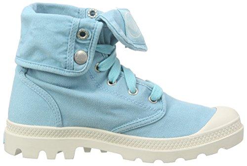 Palladium Baggy, Bottes Desert de hauteur moyenne, doublure froide femme Blau (Blueberry/Marshmallow)