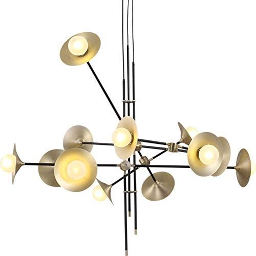 GZ Dekoration Kronleuchter, Restaurant Cafe Bar Dekoration Kronleuchter, Wandleuchte aus Schmiedeeisen Moderne Glas-LED-Pendelleuchte Lautsprecher Esszimmer Küche Designer Hängelampen Avize Pendelleu