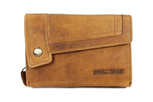 Hill Burry Pelle Vintage Portafogli da donna portamonete in morbida pelle–�?4,5x 10x 5cm (B x H x T) marrone marrone marrone