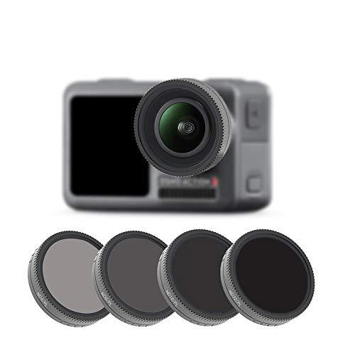 HSKB Kamera Lens | ND4-PL + ND8-PL + ND16-PL + ND32-PL Lens Filter für DJI Osmo Action Camera Professionelle wasserdichte Kamera Lens (4PC)