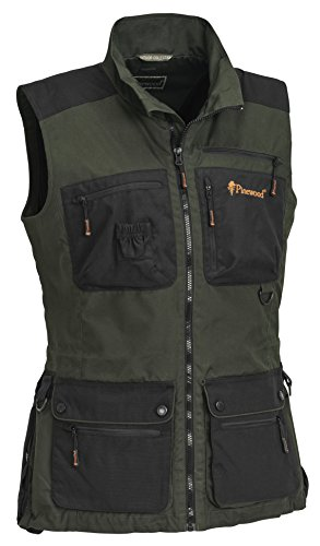 Pinewood New Dog Sports Damen Weste, Moosgrün/Schwarz, XL
