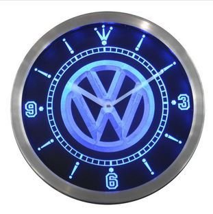 VarichLotus VW Volkswagen Auto Neon Sign LED Wall Clock -