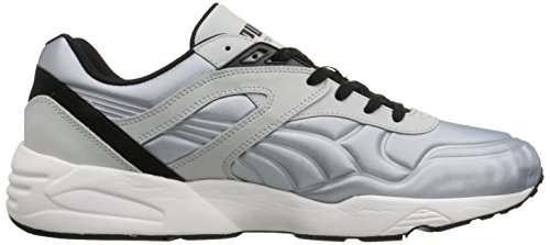 Puma R698 Matt And Shine Lace-up Fashion Sneaker Glacier Grey-Black