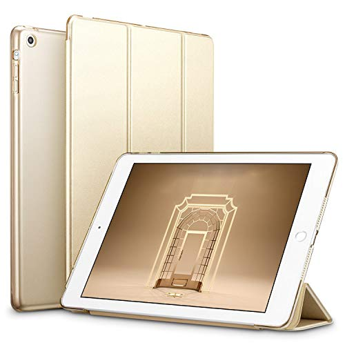ESR Hülle kompatibel mit iPad Mini 3/ iPad Mini 2/ iPad Mini - Ultra Dünnes Smart Case mit Auto Schlaf-/Aufwachfunktion - Kratzfeste Schutzhülle mit Transparenter Rückseite - Gold