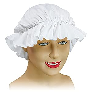 White Mob Cap Bonnet Victorian Maid Lady Fancy Dress (gorro/sombrero)