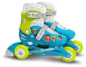 Stamp Sas-Patins en Ligne Two in One 3 Roues Toy Story 4 27-30 Adjustable Wheels Skate, Color Blue Green, (J867730)