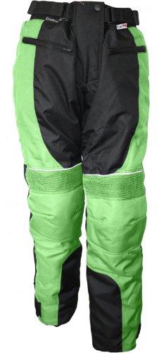 Damen Motorradhose Textil-Hose Kombigeeignet GRÜN, Größe:S