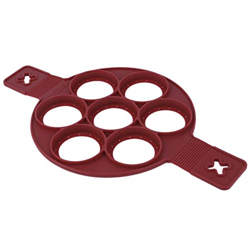 HibiscusElla Umwelt Ungiftig Home Küche Zubehör Antihaft-silikon Backkuchen Ei Ring Pancake Mold Mould