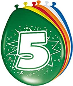 Globo Globos Número 5Cumpleaños 8ST. Fiesta Globos