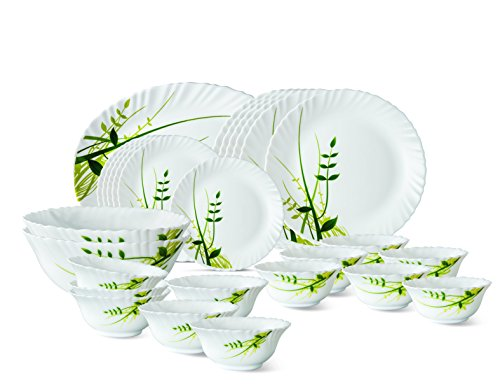 Dinner Set of 27 Pcs Green Herbs By Larah