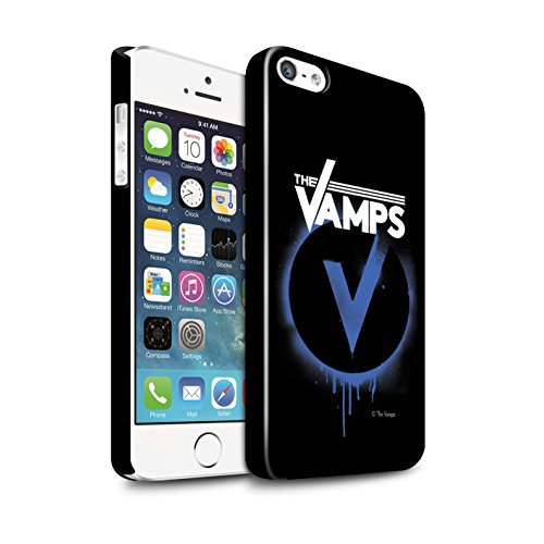 Offiziell The Vamps Hülle / Glanz Snap-On Case für Apple iPhone 5/5S / Pack 6pcs Muster / The Vamps Graffiti Band Logo Kollektion Blau V