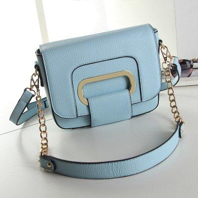 Mefly Ms All-Match goffrato retrò nuovo sacchetto borsetta grigio argento Sky blue
