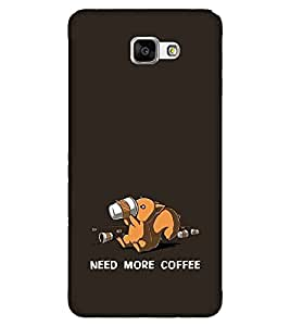 For Samsung Galaxy A9 Pro need more coffee ( need more coffee, good quotes, cartoon, black background ) Printed Designer Back Case Cover By FashionCops