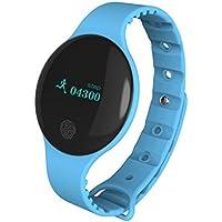 Bluetooth Smart Watch Sannysis pulsera deportivo pedometer tracker para Android iOS (azul)