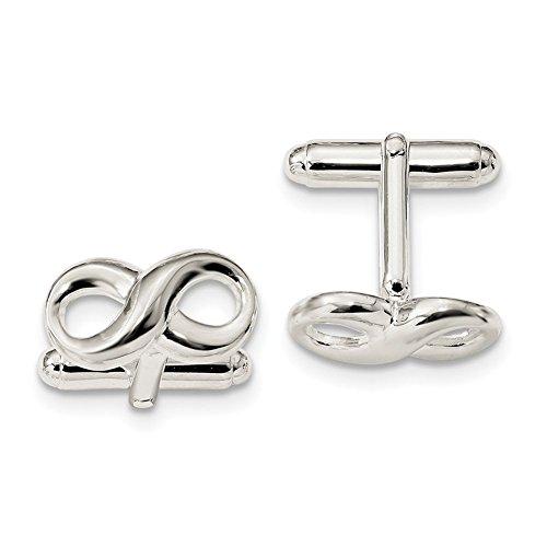 Sterling Silber Infinity Manschettenknöpfe qq601