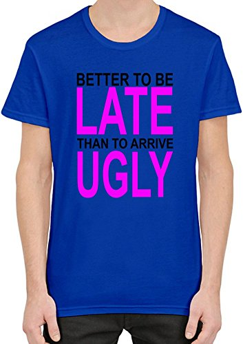 better-to-be-late-slogan-t-shirt-homme-xx-large