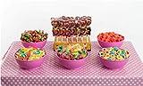 Mesa Dulce San Valentín La Asturiana - Surtido de gomitas, caramelos, piruletas y chicles para fiestas y aniversarios, 6 variedades distintas, sin gluten
