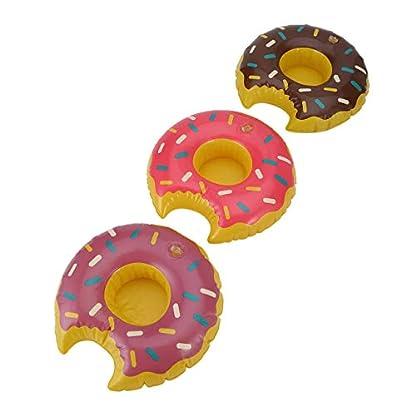 3-teilesatz-Modische-Reizende-Bunte-PVC-Aufblasbare-Donuts-Bier-Kaffee-Fruchtsaft-Getrnkehalter-Sommer-Party-Pool-Multi-Farbe