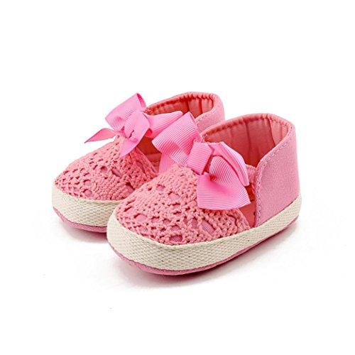 Igemy 1Paar Frühling weiche Sole Mädchen Baby erste Wanderer Mode Schuhe Schmetterling Knoten Schuhe Rosa