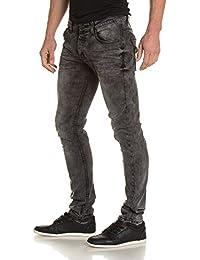BLZ jeans - Jeans homme gris délavé slim