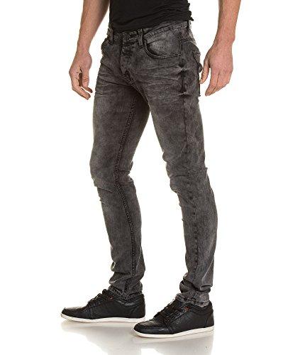 BLZ jeans - schlank verblasste graue Jeans Mann Grau