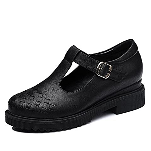 Guciheaven Stylish Women's Artificial Leather Weaving T-Strap Shoes