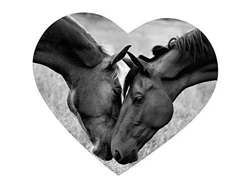 Wandsticker Sticker Wandaufkleber für Kinderzimmer Pferd Herz kuscheln lieb (57x50cm) (Pferd Fliese Wandbild)