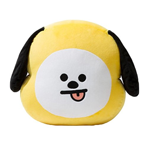 TPMALL BTS - Almohada de felpa para muñeca, cojín de felpa, bonito regalo perfecto para el día de la madre del niño, para decoración del hogar (amarillo)