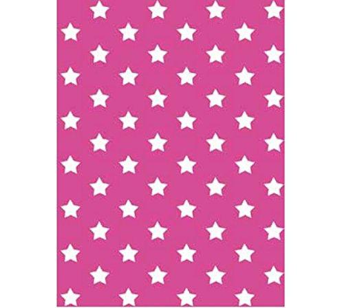 Klebefolie - Möbelfolie Stars - Sterne pink - 45 cm x 200 cm moderne Selbstklebefolie Folie Dekorfolie mit Motiv