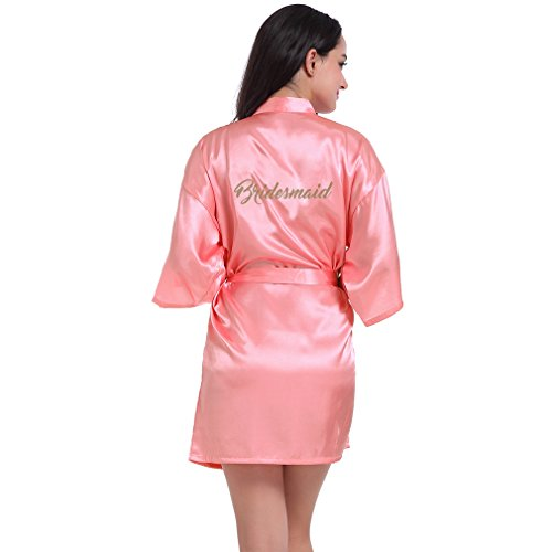 BOYANN Damigella d'onore Vestaglie e Kimono Pigiami e Camicie da Notte Donna Accappatoi Anguria Rossa