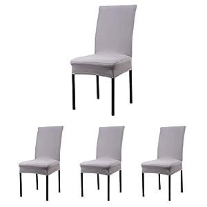 Cosyvie Set 4 PCS Bezüge Decken Stuhl Ausziehbar Und Waschbar Für Schutz  Stuhl Esszimmer Schwarzen