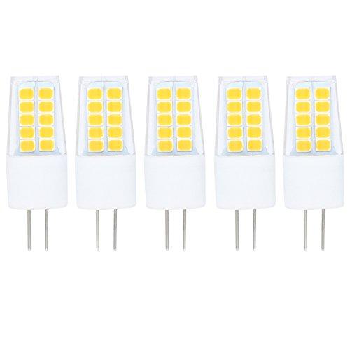 5 Stück G4 LED Leuchtmittel 3W Warmweiß Lampen LED 20 SMD 2835LEDs 270LM Energiesparende LED 360 Grad Abstrahlwinkel AC/DC12V