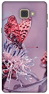 The Racoon Lean butterfly diaries pink hard plastic printed back case / cover for Samsung Galaxy A9 (2016)