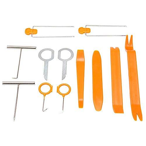Forepin Auto Demontage Werkzeuge 12 Stück Zierleistenkeile Lösewerkzeug Kit für Innen Armaturenbrett Türverkleidung und Platten Removal Reparatur Werkzeuge