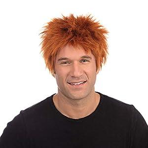 MOP Head Ginger Wig Teen Boy Style Rocker (peluca)