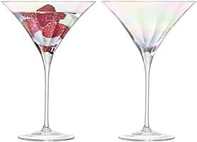 LSA International Cocktail Glas 300 ml x 2, Mother of Pearl, 13,5 x 13,5 x 19,7 cm