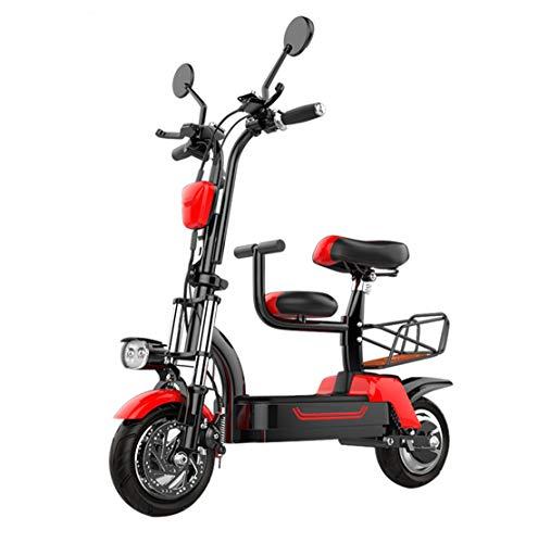 Creing Adultos Scooters EléCtricos con Asiento MonopatíN EléCtrico Plegable Patinete EléCtrico PortáTil Ciclomotor Electrico E-Scooters Movilidad 24 km/h