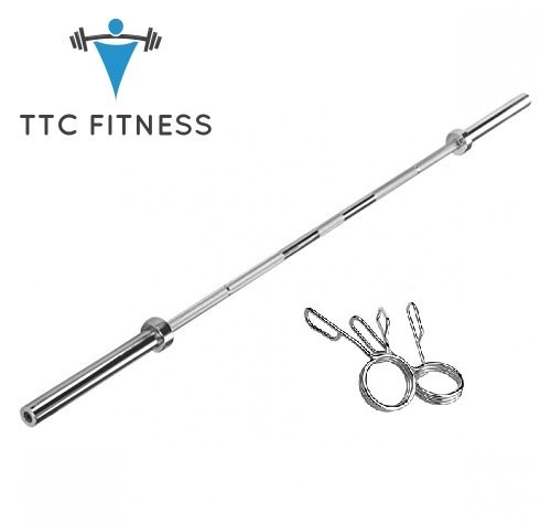 TTC Fitness 5 FT Olympic Barbell with Locks