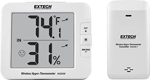 Extech RH200W Drahtloses Hygro-Thermometer für den Innen- und Außenbereich, grün -