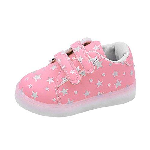 Ginli scarpe bambino,Scarpe Primi Passi Scarpine Neonato Scarpe LED Bambini Scarpe per Bambini con luci Scarpe Leggere Colorate Casuali del Bambino Luminoso delle Scarpe da Tennis di Modo
