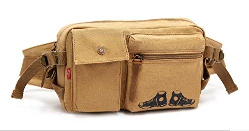 ZYT Große Taschen Tasche Trend Persönlichkeit Mann Tasche Canvas Geldbörse Berg Geldbörsen Khaki