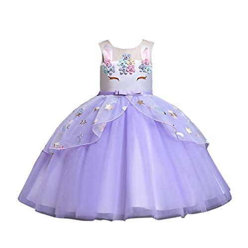 (Mitlfuny Damen Vintage Rockabilly Swing Kleider,Kleinkind Kinder Baby Mädchen ärmellose Tüllrock Prinzessin Party Kleider Kleidung)