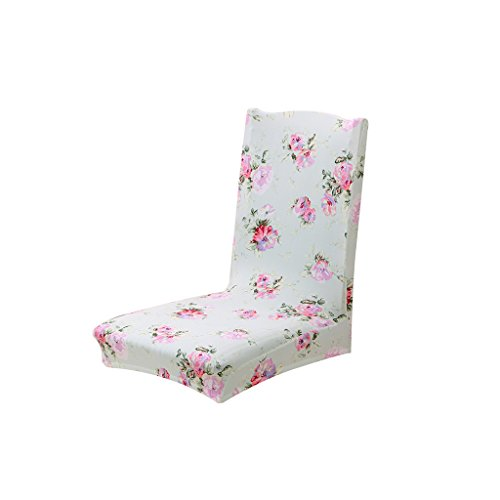 Imported Dining Chair Cover Chair Protector Stretch Slipcover Home Decor 9 Types - red , 2 x 3  available at amazon for Rs.445