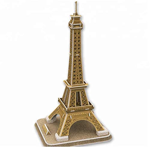 Hippomee Eiffel Tower 3D Puzzle Jigsaw Puzzle Educational DIY Toys for Kids Teens Adults( 36 Pieces)