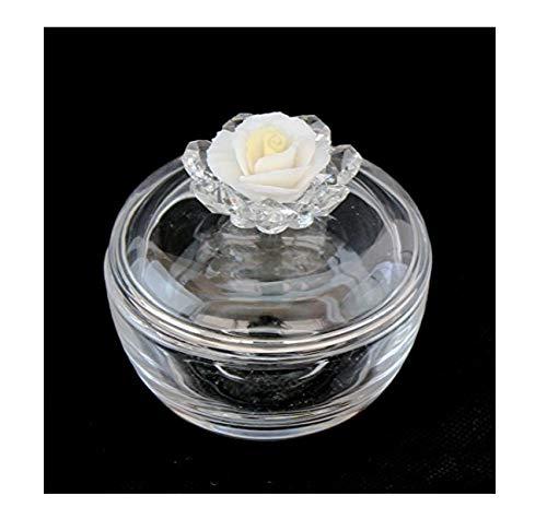 L'angolo barletta capodimonte scatola portagioie in vetro con fiore cristallo_capodimonte bomboniera