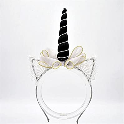 Mings Fashion Kid Hair Decoration Children Hair Decorations Bow Tie Headband Festival Cosplay (Black)