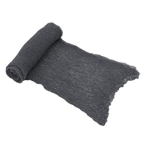 lujiaoshout Neugeborenes Baby-Fotografie Props Decke Rayon Stretch Knit Wraps für Baby-Fotografie Fotografie-Werkzeug 40 * 150cm - Grau -