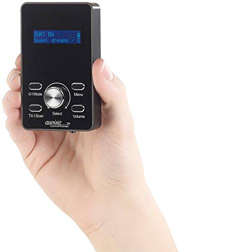 auvisio Kopfhörer Radio: 2in1-Digital-DAB+/FM-Taschenradio & FM-Transmitter mit RDS und Akku (UKW Transmitter) (Transmitter Pocket Fm)