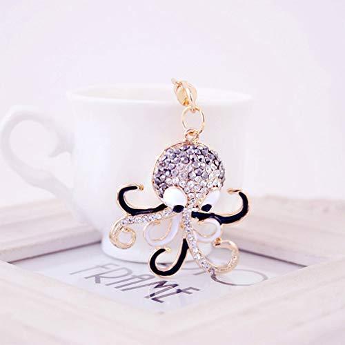 Bubbry Kreative Liebes-Karikatur-Krake Keychain Damen-Tasche, die Verzierungs-Geschenk hängt